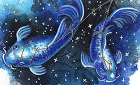 Pisces the Fishes- Constellation Series