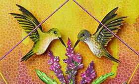 Creativity- Aquarius & Hummingbirds