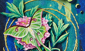 Cancer- Luna Moth & Valerian