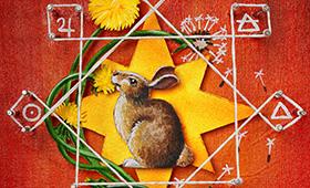 Leo- Rabbit & Dandelion