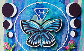 Transformation- Pisces, Butterfly & Hyssop