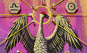 Harmony- Libra, Crane & Waterlillies